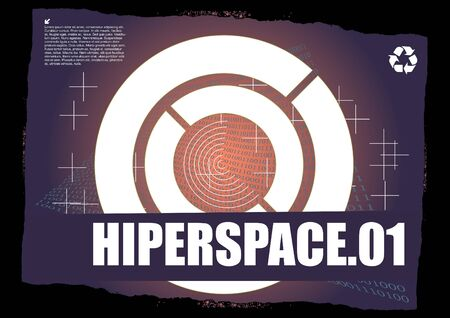 hyperspace abstract design  Vector