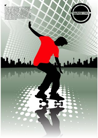 skateboarder: abstract skateboarding
