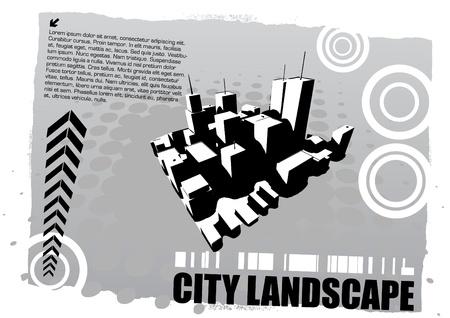 perspective city landscape  Vector