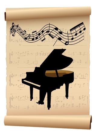 piano: Cartel del concierto de piano  Vectores