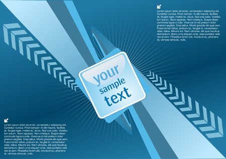 blue technical background  Vector
