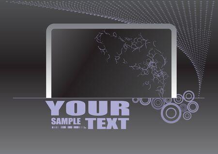 silver frame design  Stock Vector - 10009536