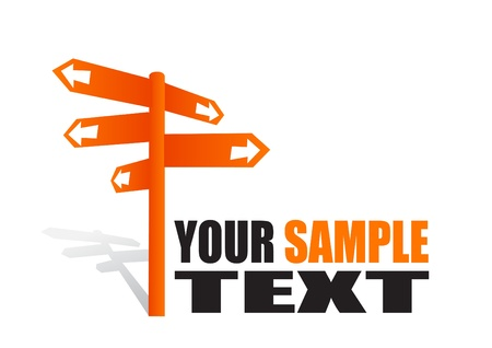 isolated orange signpost Stock Vector - 10009514