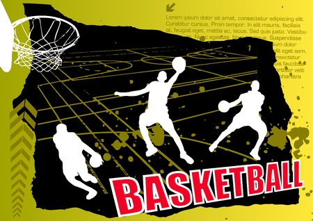 hand baskets: basketball vector