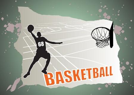 canestro basket: vettore di basket