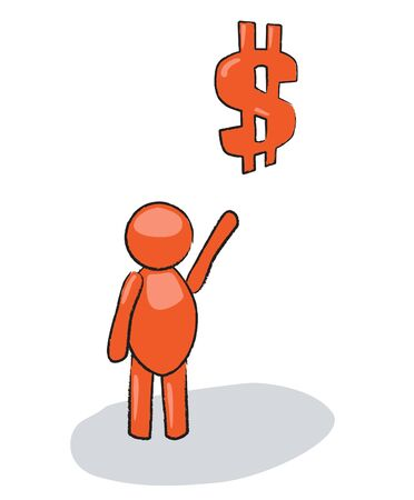 comic man with dollar sign Stock Vector - 10009530