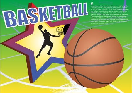 dunk: basketball vector