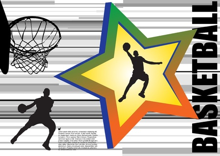 basketball vector Stock Vector - 10090199