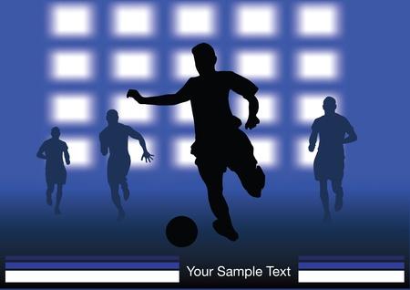 Soccer Players on stadium flash lights