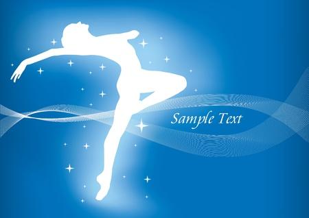 bailarines silueta: Fondo de ballet mágico