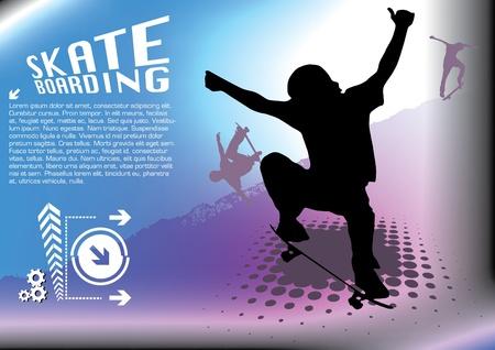 abstract skateboard vector