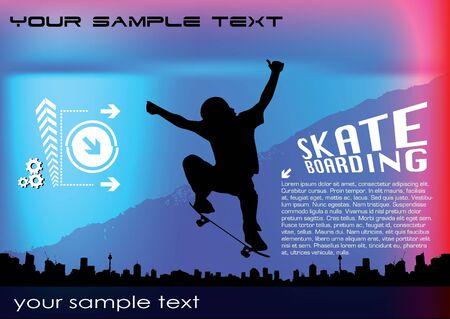 abstract skateboard vector  Stock Vector - 10090257