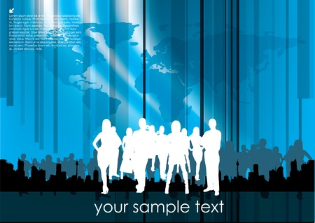 business people on technical background Stock Vector - 10090260