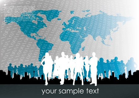 business team on abstract background  Vector