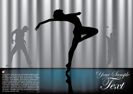 fitness dance: magic ballet background