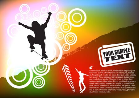 skateboard abstract background Stock Vector - 10090248
