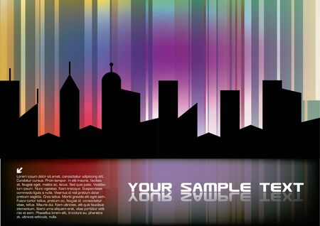 colorful city design Stock Vector - 10090271