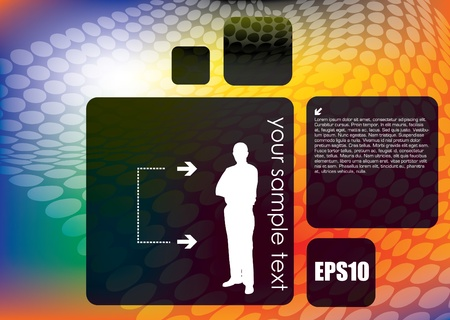 machine man: businessman interface on abstract background