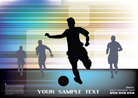 soccer pass: football abstract background