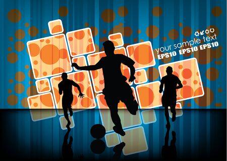 soccer stadium: futbolistas sobre fondo abstracto