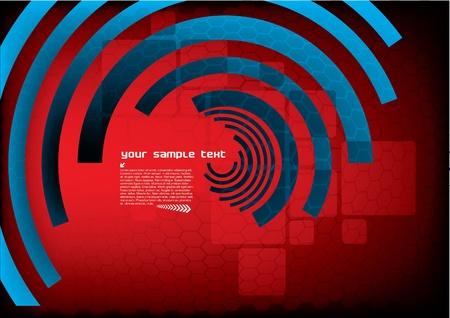 digital futuristic background  Illustration