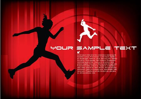 dynamic people on technical background Stock Vector - 10090309