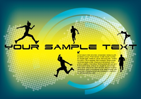 dynamic people on technical background  Stock Vector - 10090357