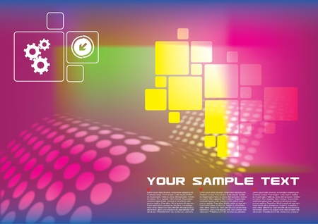 colorful technical background  Vector