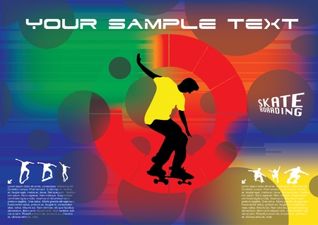 abstract skateboard vector  Vector