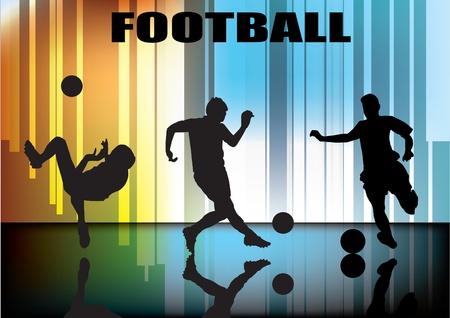 joueurs de foot: joueurs de soccer de d�finir le vecteur