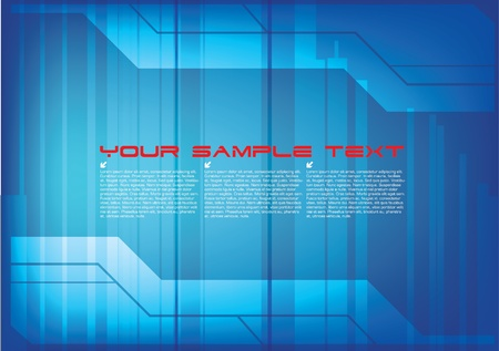 square detail: technical abstract background  Illustration