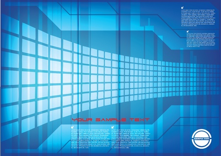 technical abstract background  Ilustrace