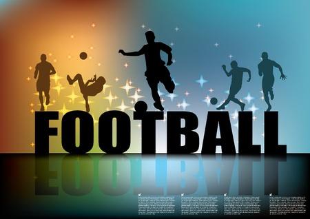 joueurs de foot: signe de football avec des joueurs de soccer
