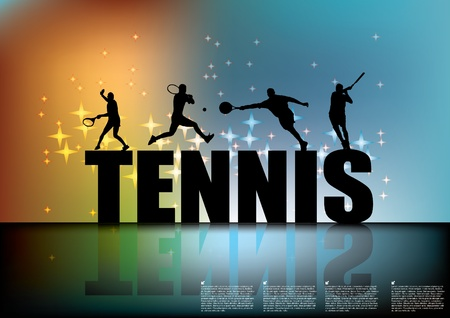 tennis: tennis sign with tennis players