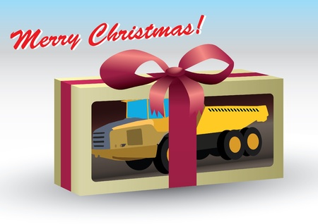 toy truck as a gift  Vector