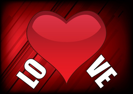 trait: love heart on abstract background