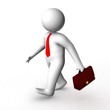 3d businessman walking  Zdjęcie Seryjne