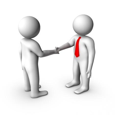 3d business handshake  photo