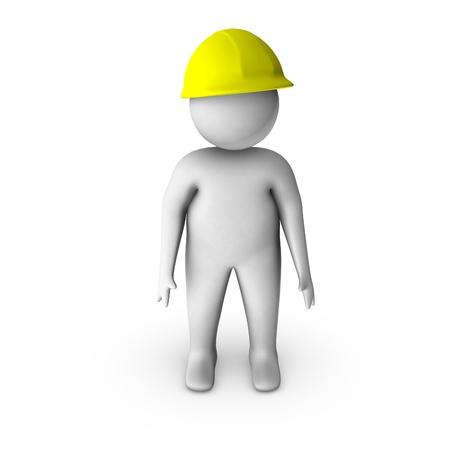 safety vest: 3d worker