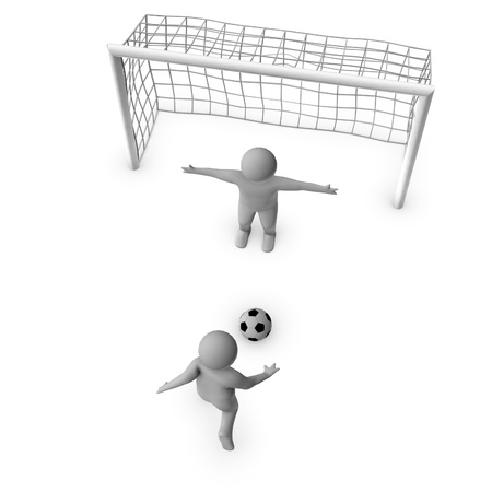leap: two 3D soccer players and the gate