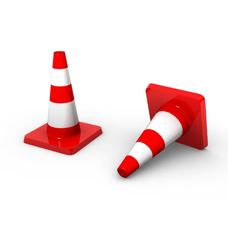 3d traffic cones  photo