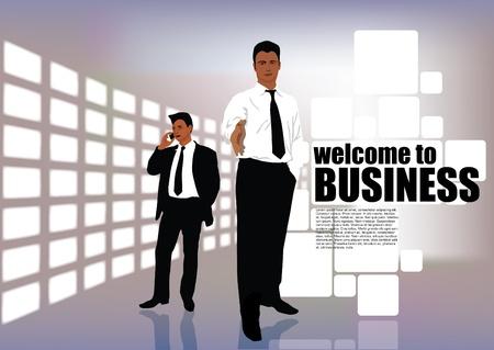 zakenman uitnodiging Stock Illustratie