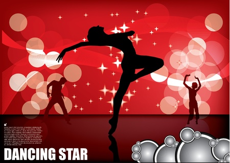 dancer on magic background Stock Vector - 11493379