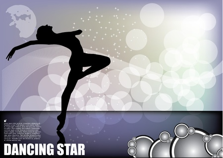 dancer on magic background  Vector