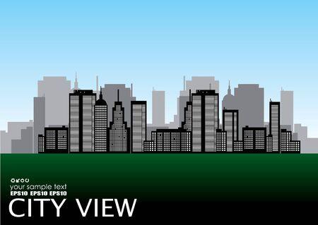 vector city view  Vector