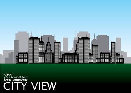 corporate building: vector city view