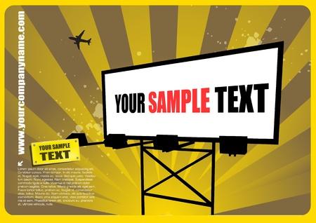 poster backgrounds: grunge billboard vector  Illustration