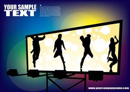 poster backgrounds: billboard Illustration