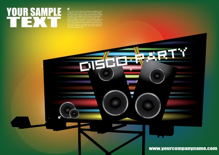 disco party billboard  Vector