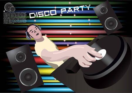 disco dj background vector  Vector